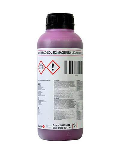 Экосольвентные чернила красного цвета для широковорматной печати. Подходят под печатные головы Epson DX5 DX6 DX7