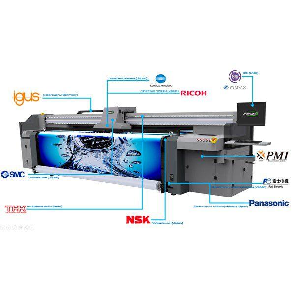 Комплектующие гибридного УФ принтера Sprinter Power Pro 3200