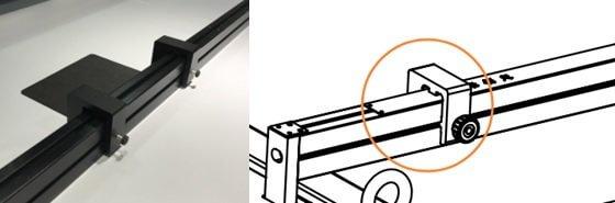 Фиксатор листового материала на гибридном УФ принтере