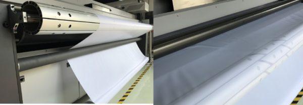 Подача материала на гибридном УФ принтера Sprinter Power Pro 5000