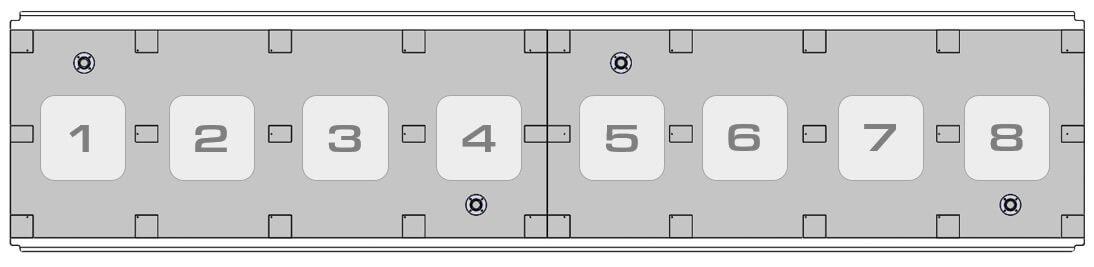 Вакуумные зоны гибридного уф принтера Sprinter Power Pro 5000